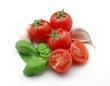Tomatoes, garlic and basil