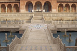 Mughal Courtyard of Luxury Hotel at Agra poster