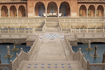 Mughal Courtyard of Luxury Hotel at Agra