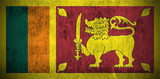 Weathered Flag Of Sri Lanka, fabric textured poster