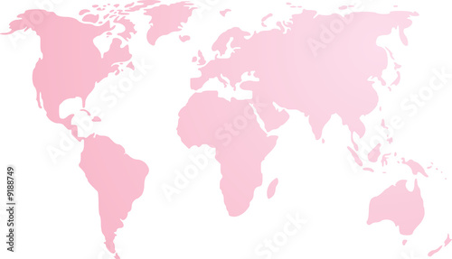 Map of the world illustration, simple outline gradient colors - 9188749