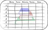 school scheduler poster