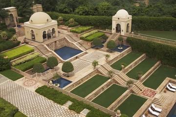 Landscaped Garden of Luxury Hotel, Agra, India