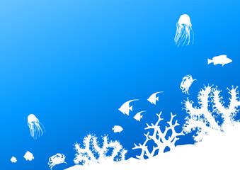 Submarine life background