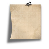 blank memo on a solid white background poster