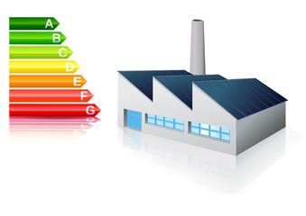 Usine et performance énergétique (reflet)