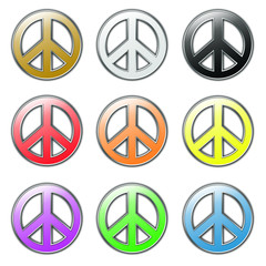 Colored Peace symbols