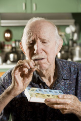 Portrait of Elder Man Discussing Medications