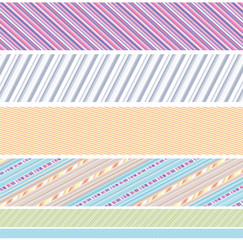 Striped Set of Borders
