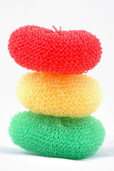 Three cleaning sponges