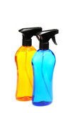 two bottles of cleaning fluid poster