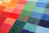 Fototapety color spectrum of carpet samples in row