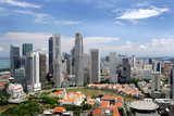 Fototapety Business district and Boat Quay, Singapore