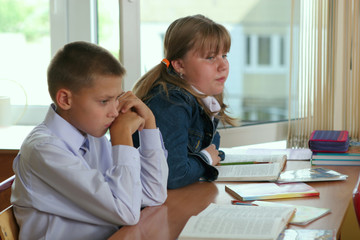 Pupils at  lesson