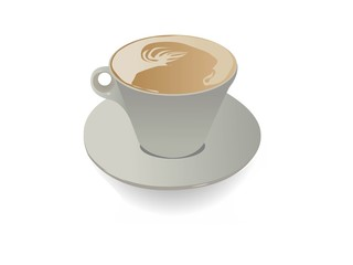 coffee cup on isolated background..