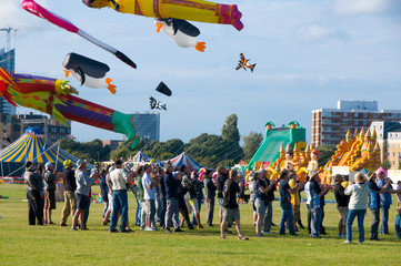 Kite festival, Portsmouth, UK.