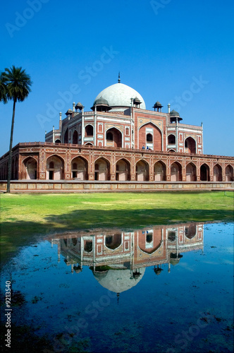 Humayun's Tomb and reflection, New Delhi, India