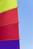 Colorful Sail Against Blue Sky poster