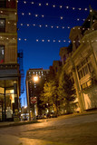 A downtown night scene in the city of Providence Rhode Island. poster