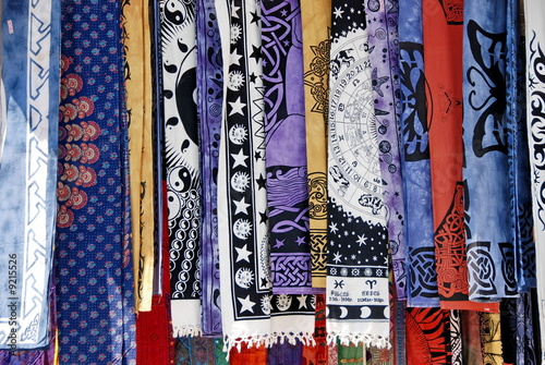 poster of various colorful dresses ready for sell