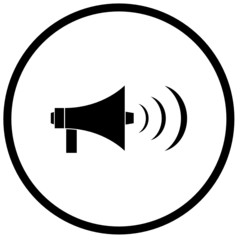 megaphone or bullhorn symbol