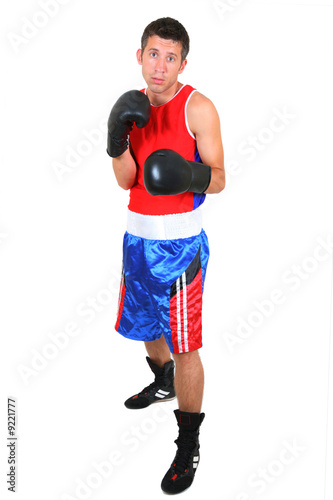 boxer in fight stance