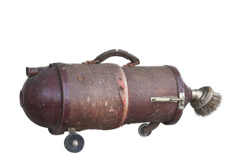 old vacuum cleaner isolated