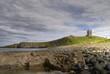Dunstanburgh Castle, cliffs, and rocky coast