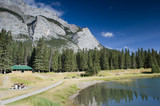 Cascade Pond in August in Banff National Park Canada poster