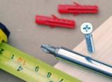 DIY tools sharply focussed on screw head poster