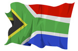 Computer generated illustration of the flag of South Africa poster