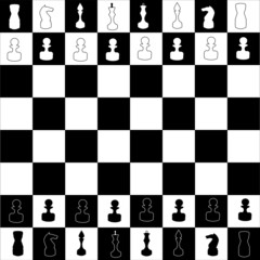 chess board illustration
