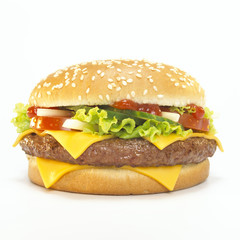 Cheeseburger, close-up