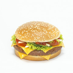 Cheeseburger, close-up,