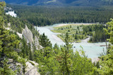 The Hoodoos in August in Banff National Park Canada poster