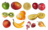 Assembling of delicious fruit poster