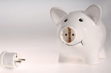 Piggybank with plug and socket