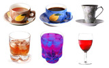 Assembling of drinks poster