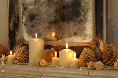Christmas decoration, candles