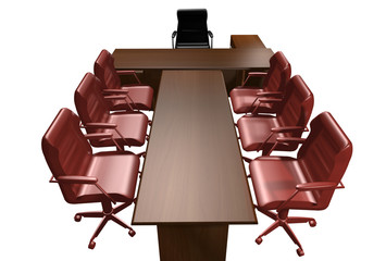 luxury Table of the director  3D rendering