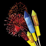 Firework and rockets, close-up