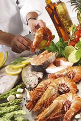 Seafood, verschiedens, Meeresfrüchte