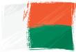Grunge Madagascar flag
