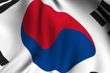 Rendered South Korean Flag