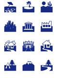 Icones de Tourisme poster