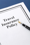 Document of Travel Insurance Policy for background poster