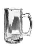 Monochrome beer mug on white, clipping path included poster