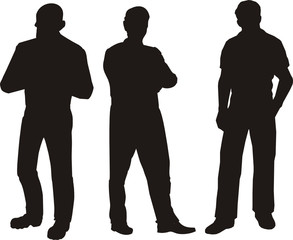 Silhoutte Of Men Standing