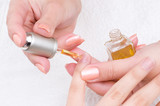 manicure - moisturizing and nutritioning poster