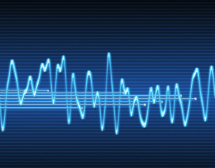 large image of an electronic sine sound or audio wave